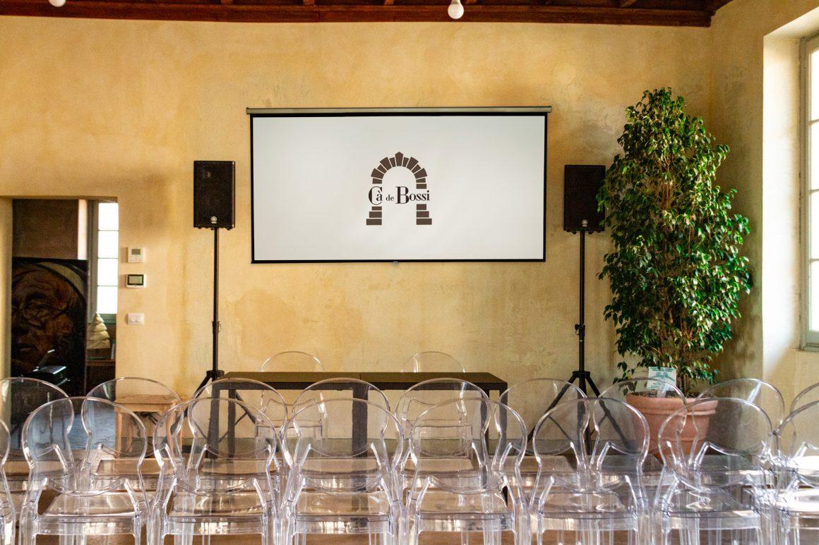 Villa Cà de Bossi - sala Theatre schermo